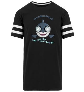 Grandpa Shark Doo Doo Funny Apparel