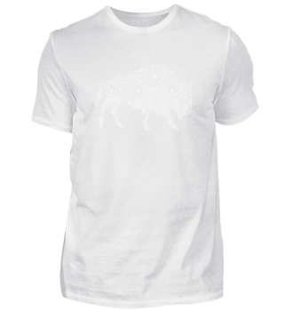 Buffalo in Mandala Pattern Yoga