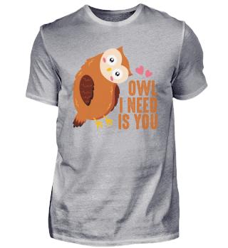 Cute owl love saying romance relationshi
