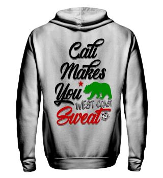 Herren Zip Hoodie Sweatshirt Cali Makes You Sweat Ramirez