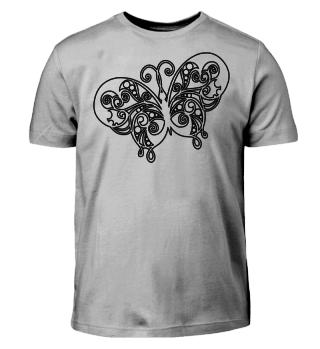 Vintage Butterfly zum Ausmalen - schwarz