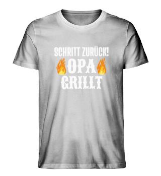 Grillen Grill Schritt Zurück Opa Grillt