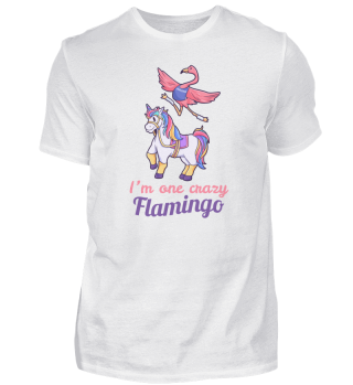 Flamingo riding unicorn girl gift