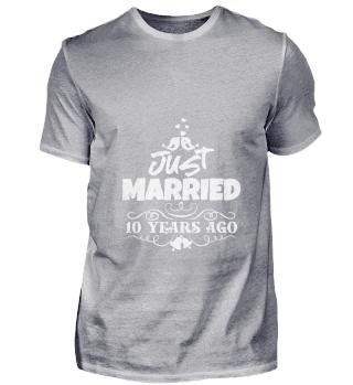 Gerade verheiratet vor 10 Jahren Jubiläu