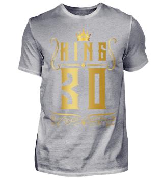 30. Geburtstag 30 Jahre King König Gold