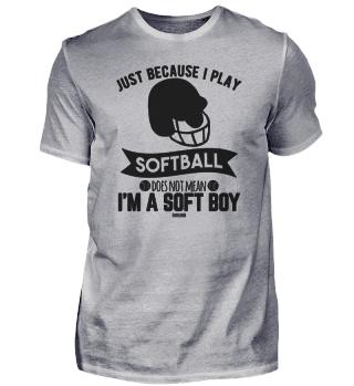 Soft Boy softball funny saying