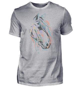 Pferdekopf Mit Langer Mähne