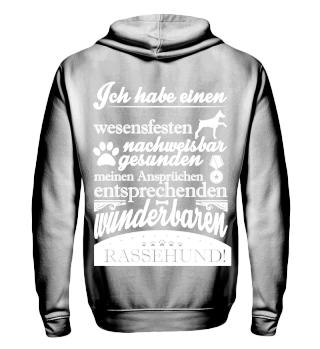 Rassehund- Hoodie & Full zip Hoodie,w