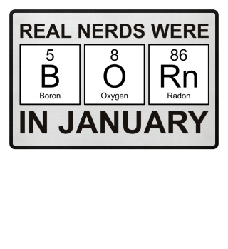 Periodic Elements - BORN january - black