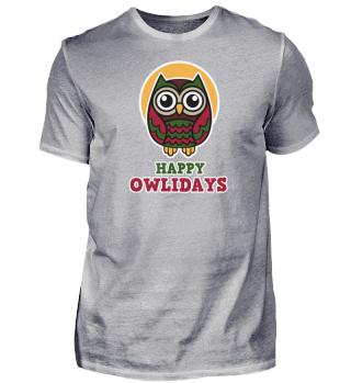 Christmas Owl - Happy Owlidays