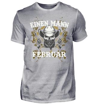 EINEN MANN FEBRUAR T-SHIRT