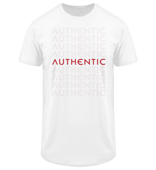 Authentic Raster Red Men Long Tee