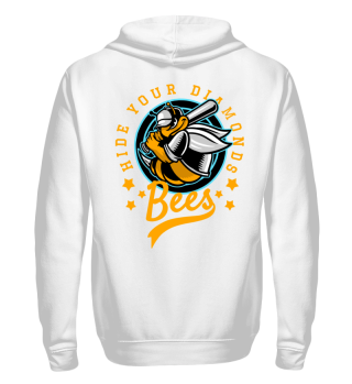 Herren Zip Hoodie Sweatshirt Bees Ramirez