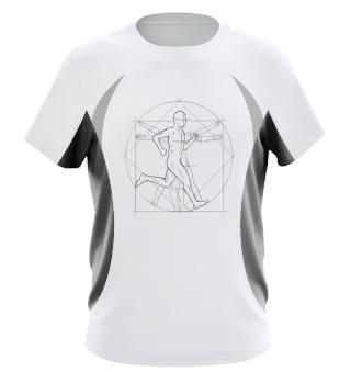 Vitruvian Man Runner Jogger Jogging Gift