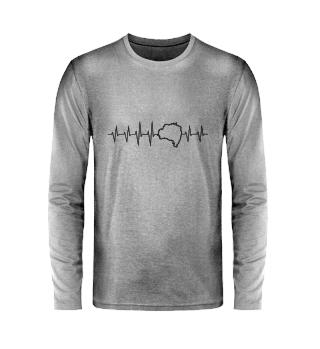 Herzschlag - Unisex Langarmshirt