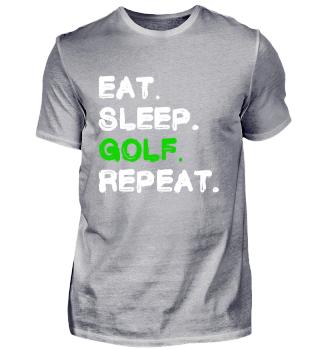 Eat Sleep Golf Repeat Shirt