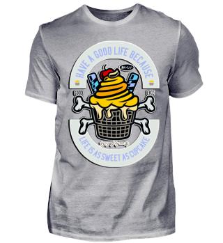 Herren Kurzarm T-Shirt Cupcake Ramirez