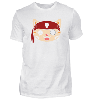 cat head pirate head eye patch one-eyed