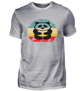 Panda Retro Style Sunset