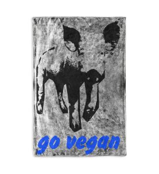 go vegan Kuscheldecke