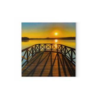 Sonnenuntergang Binz Leinwand