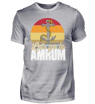 Amrum Retro anchor North Sea Island boy