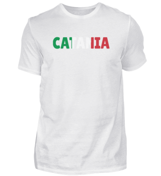 Catania Italy flag holiday gift