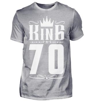 70. Geburtstag 70 Jahre King König weiss