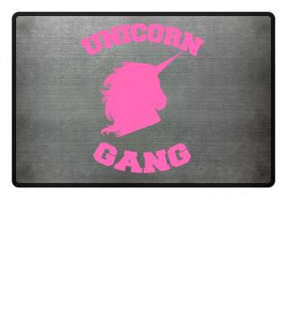 Unicorn Einhorn Gang Fußmatte Geschenk