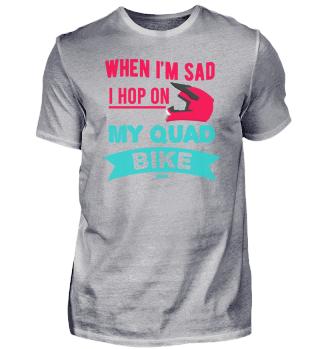 Quad Bike Motorraldhelm funny saying