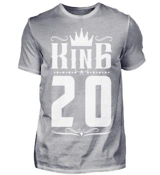 20. Geburtstag 20 Jahre King König weiss