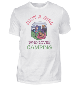 Just A Girl Who Loves Camping Caravan