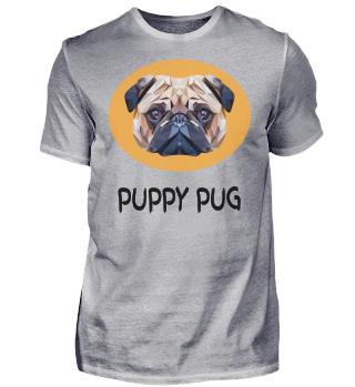 Funny Pug Polygon Dog Head Pet Gift