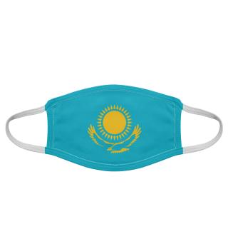 Kazakhstan Flagge Adler Gesichtsmaske