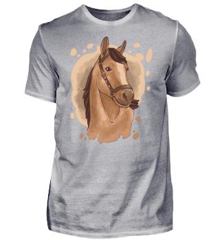 Pferdeportrait Mit Wallender Mähne