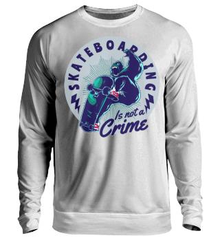 Herren Langarm Shirt Skateboarding Crime Ramirez