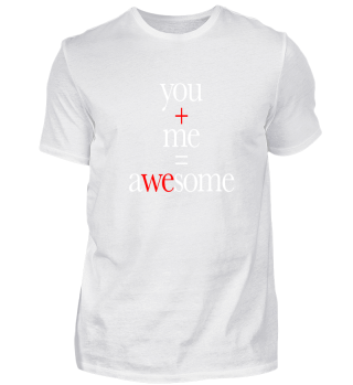 You and Me Awesome Valentinstag