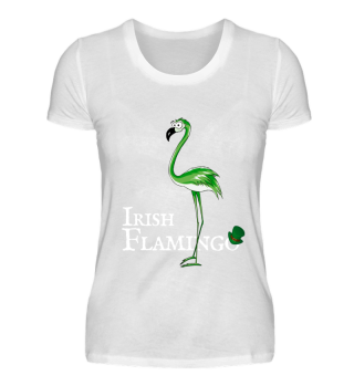 Irish Flamingo St Patricks Day Gift
