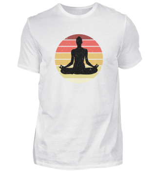 Yoga Meditate Meditation Vintage Design
