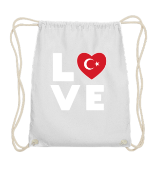 I love LOVE Turkey Flag Flag Heart