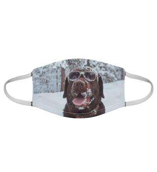Gesichtsmaske mit Hundemotiv 20.4