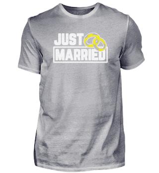 Just Married Motiv für Bräutigam oder
