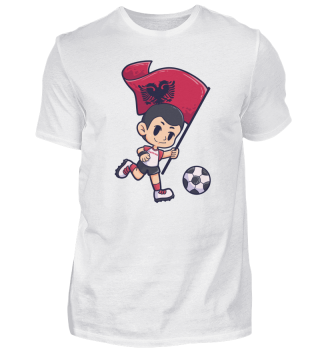 Fußball Albanien Flagge Junge Kind Sport