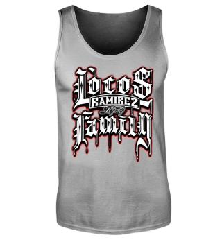 Herren Tank Top Locos Family Ramirez