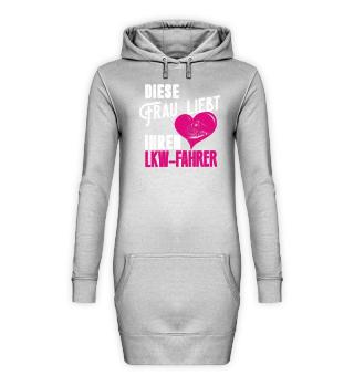 LKW Hoodie Kleid diese Frau liebt