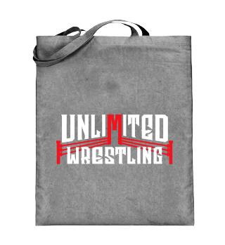 Unlimited Wrestling Logo Beutel