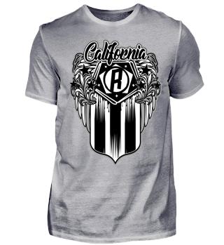 Herren Kurzarm T-Shirt California R Ramirez