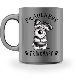 Frauchens Trinknapf Schnauzer Tasse