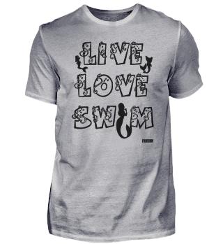 Meerjungfrau Lebe Liebe Schwimme Mädchen
