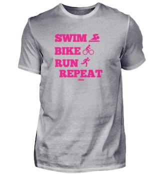 Triathlon Marathon Sport Spruch Geschenk